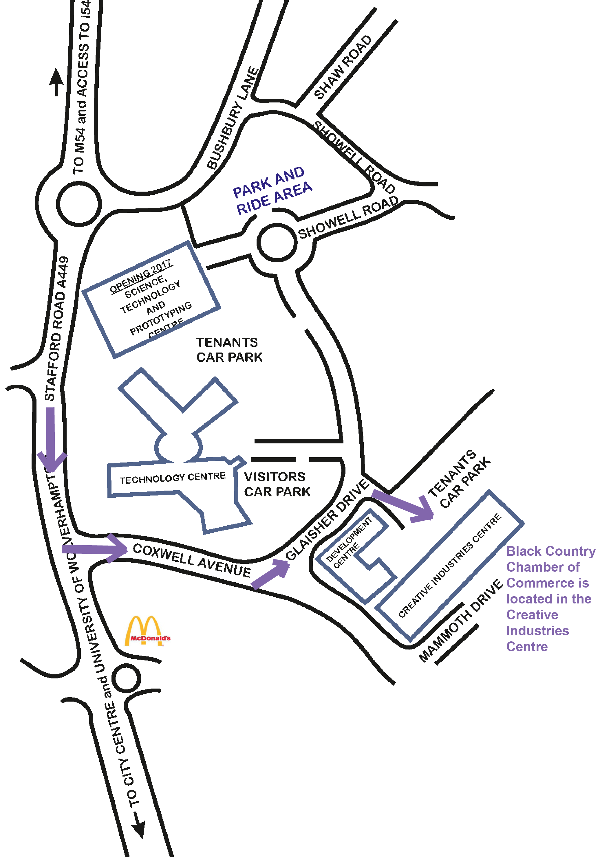 map for brochure